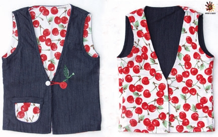 Gilet in jeans double-face
